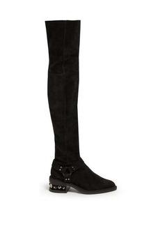 Nicholas Kirkwood Suzi over-the-knee suede boots