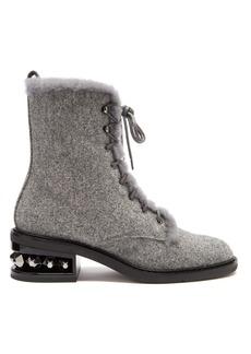 Nicholas Kirkwood Suzi stud-embellished combat boots