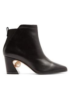 Nicholas Kirkwood Tilda pearl-heeled leather ankle boots