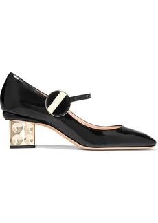 Nicholas Kirkwood Woman Ciara Glossed-leather Mary Jane Pumps Black