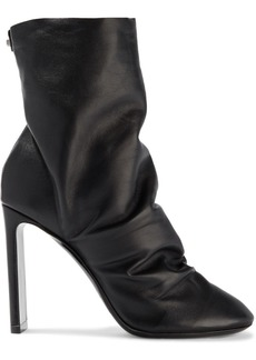 Nicholas Kirkwood Woman D'arcy Ruched Leather Ankle Boots Black