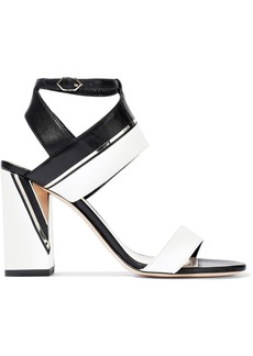 Nicholas Kirkwood Woman Eva Embellished Two-tone Leather Sandals Black