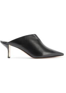 Nicholas Kirkwood Woman Leeloo Suede-trimmed Leather Mules Black
