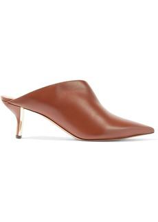 Nicholas Kirkwood Woman Leeloo Suede-trimmed Leather Mules Tan