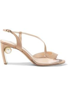 Nicholas Kirkwood Woman Maeva 70 Embellished Leather And Pvc Slingback Sandals Neutral