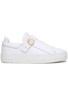 Nicholas Kirkwood Woman Pearlogy Embellished Leather Sneakers White