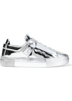 Nicholas Kirkwood Woman Pearlogy Mirrored-leather Sneakers Silver