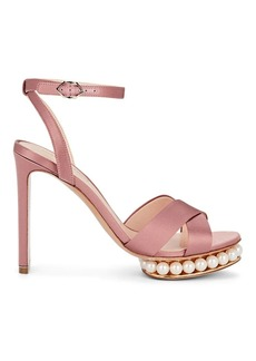 Nicholas Kirkwood Women's Casati Satin Platform Sandals
