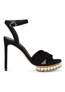 Nicholas Kirkwood Women's Casati Suede Platform Sandals