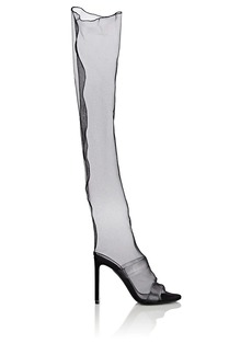Nicholas Kirkwood Women's D'Arcy Organza & Suede Knee Boot