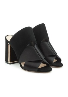 Nicholas Kirkwood Nini Mules in Satin and Suede