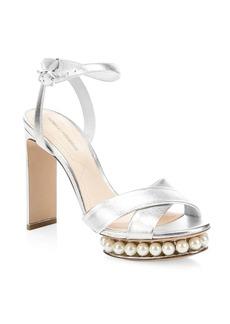Nicholas Kirkwood Casati Imitation Pearl Platform Sandals