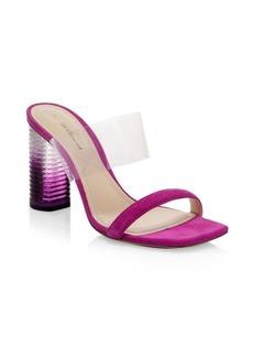 Nicholas Kirkwood Peggy PVC & Suede Mule Sandals