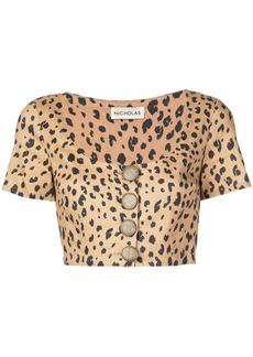 NICHOLAS leopard print blouse