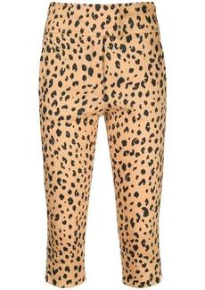 NICHOLAS leopard print cropped trousers