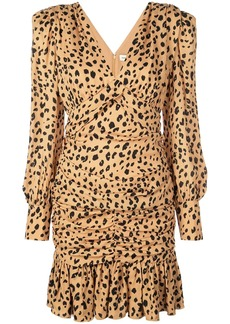 NICHOLAS leopard print day dress