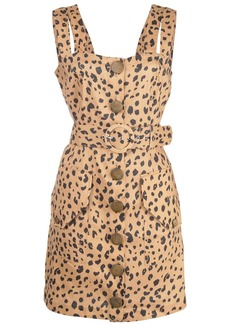 NICHOLAS leopard print mini dress