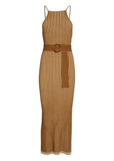 NICHOLAS Lily Belted Knit Midi Dress