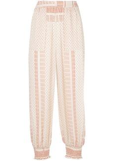 NICHOLAS mix pattern cropped trousers