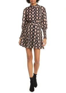 NICHOLAS Agadir Puff Sleeve Silk Minidress