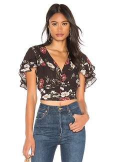 NICHOLAS Floral Layered Tie Front Top