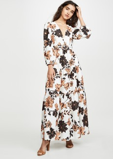 Nicholas Linen Tiered Maxi Dress