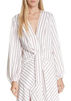 NICHOLAS Stripe Tie Front Blouse