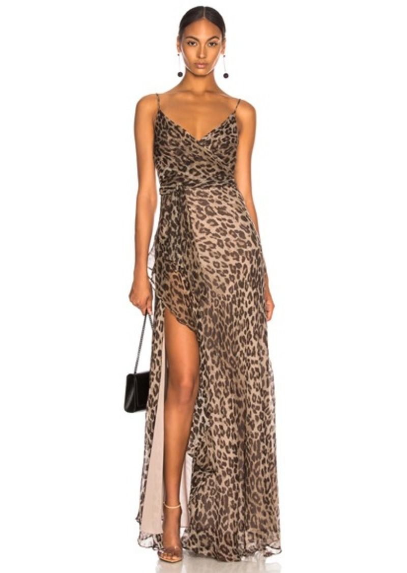 NICHOLAS Tie Front Maxi Dress