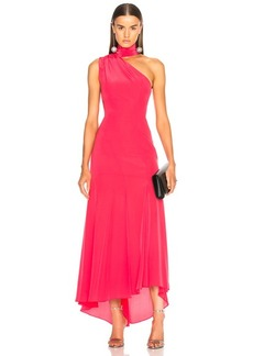 NICHOLAS Tie Neck Maxi Dress