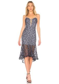 NICHOLAS Whisper Lace Up Bra Dress