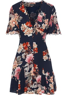 Nicholas Woman Floral-print Silk Crepe De Chine Mini Dress Midnight Blue