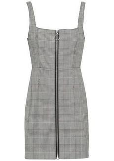 Nicholas Woman Prince Of Wales Checked Jacquard Mini Dress Gray