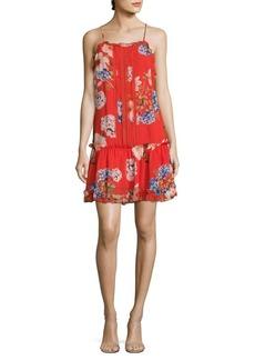 N/Nicholas Hydrangea Silk Drop-Waist Dress