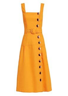 NICHOLAS Pinafore Midi Dress