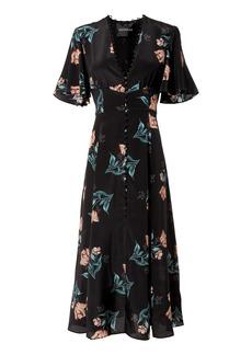 NICHOLAS Piper Floral Midi Dress