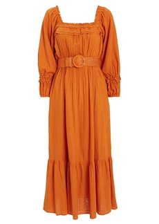 NICHOLAS Pleated Prairie Dress