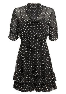 NICHOLAS Polka Dot Ruffle Mini Dress