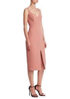 NICHOLAS Quilted Crepe Midi Dress