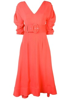 NICHOLAS ruched sleeve dress