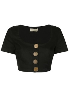 NICHOLAS short-sleeve cropped top