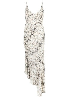 NICHOLAS snakeskin-print asymmetric dress