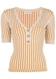 NICHOLAS striped pattern jersey top