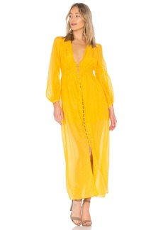 NICHOLAS Voile Smocked Maxi Dress