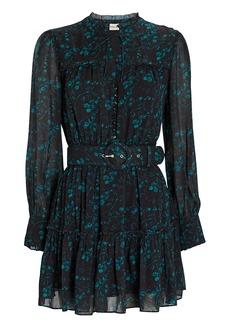 NICHOLAS Winona Paisley Chiffon Mini Dress