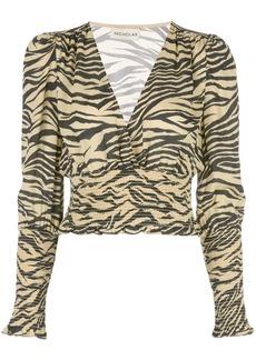 NICHOLAS zebra print blouse
