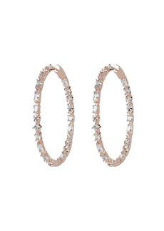 Nickho Rey Casey Stone Hoop Earrings