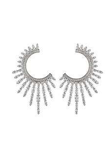 Nickho Rey Charlotte Crystal Open Hoop Earrings