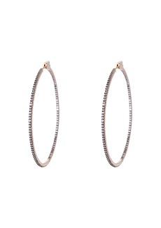 Nickho Rey Evie Rose Gold Slim Hoop Earrings
