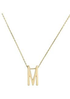 Nickho Rey M Alphabet Necklace