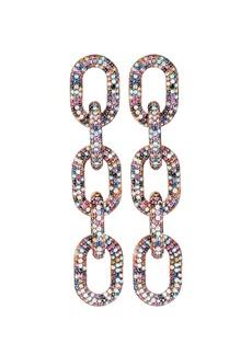 Nickho Rey Pavé Crystal Chain-Link Earrings
